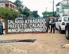 Paralização dos servidores da educação em Óbidos virou notícia no diário do Pará
