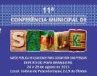 O conselho Municipal de Saúde realizará nos dia 24 e 25, na Colônia Z-19 a 11ª Conferencia de Saúde de Óbidos.