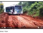 Após falha mecânica ônibus causa transtornos para o transito na rua Antônio Brito de Souza em Óbidos Pará.