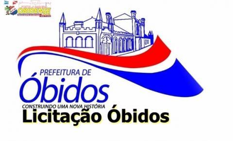 Prefeitura de Óbidos divulga editais de pregões presenciais, tomada de preço e chamada pública para aquisição de serviços em diversas áreas