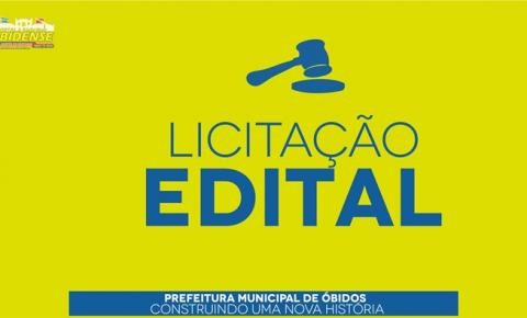 Prefeitura de Óbidos divulga 8 editais de licitações para contratação em diversas áreas
