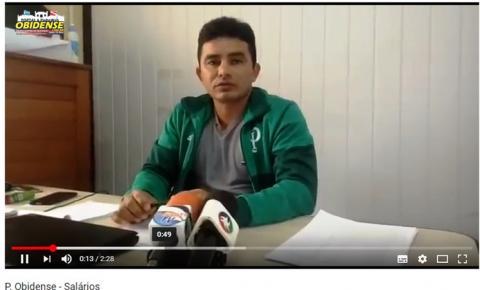 Matéria em vídeo - Atraso no pagamento de salários volta a preocupar presidente do sindicato dos trabalhadores públicos municipais de Óbidos.