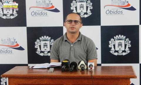 Secretário de saúde através de coletiva comunica a população de Óbidos da reabertura do 1º pavilhão do hospital José Benito Priante.