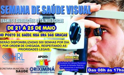 Será realizado no município de Oriximiná nos dias 21,22,23,24 e 25 de maio, na Unidade Básica de saúde Nossa senhora das Graças