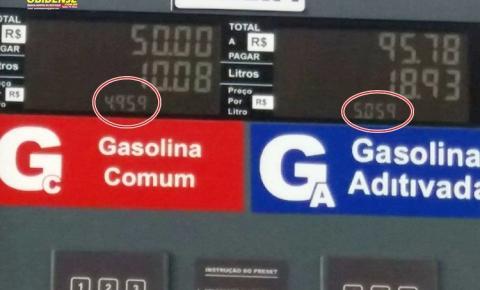 Em Óbidos o preço da gasolina cobrado nos 3 postos existentes na cidade chega a 5,05 o litro.