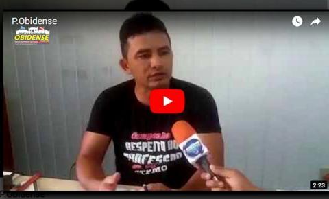 Presidente do Sindicado dos servidores de Óbidos, explica o objetivo da rifa que está sendo organizado pelos servidores