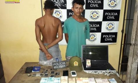 Em Alenquer as polícias Civil e Militar fizeram apreensão e prisão na noite de quinta-feira (31)