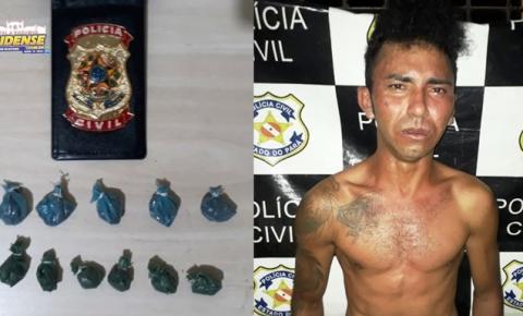 Em Alenquer, após ser monitorado pela polícia vulgo Conan, foi preso com drogas dentro da cueca.