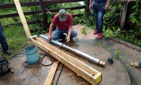 Em Oriximiná, comunidade Nova Betel recebeu Bomba D`água nova para seu poço artesiano