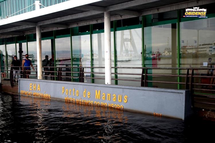 Medição Porto de Manaus - Registro do dia da cheia recorde 29,99m