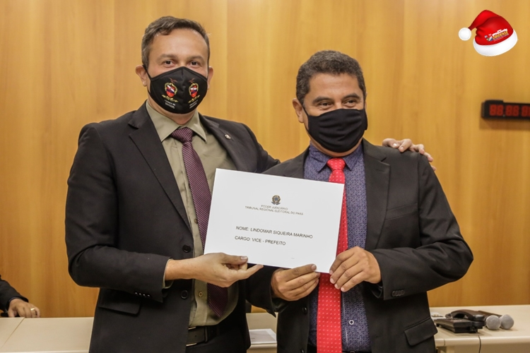 Juiz eleitoral: Clemilton Salomão e o Vice-prefeito dilplomado: Lindomar Marinho