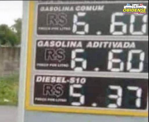 Preço - gasolina em Oriximiná