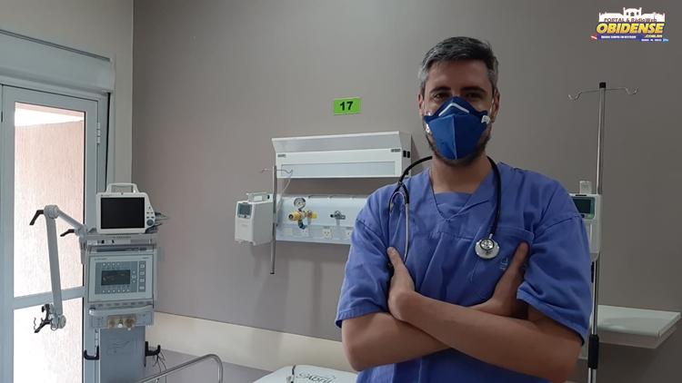 Dr. Fidel Leal, médico intensivista. Foto-Arquivo Pessoal