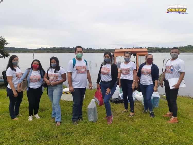 Equipe da SEMDES, chega na Vila União do Curumú