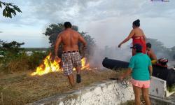 Fogo no Forte - Clima seco causa incêndio no Forte Pauxis, em Óbidos
