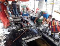 SEMMA apreende embarcação com aproximadamente oito toneladas de Pirarucu   Portal Obidense