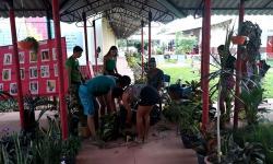 Alunos da escola Mauricio Hamoy realizam mutirão de Limpeza no educandário | Jornal M. H – Portal Obidense
