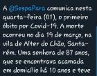 SESPA confirma primeiro caso de morte por covid-19 no Pará | Portal Obidense