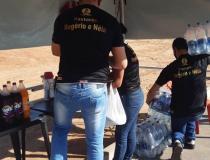Na PA 437 em Óbidos, voluntários recebem doações e mensagem motivacionais | Portal Obidense