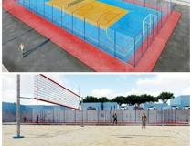 Obras nas quadras da Praça da Cultura ǀ Portal Obidense
