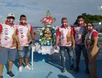 Ribeirinho de algumas comunidades em Óbidos recebem visita de Sant´Ana em Live do Regatão   Portal Obidense