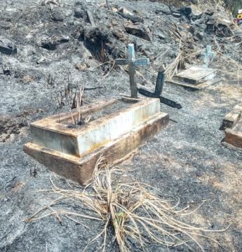 Resultado do incêndio no cemitério de Óbidos   Portal Obidense