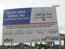 O programa asfalto por todo o Pará chega com força total na cidade de Curuá | Portal Obidense