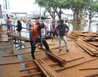 Centro comercial de Óbidos completamente tomado pelas águas do Rio Amazonas | Portal Obidense