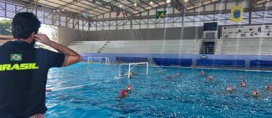 Pela 1ª vez, treinamento da seleção de polo aquático alia esporte e ciência