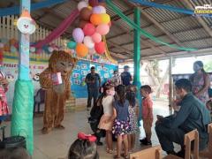 EMAÚS, Cáritas Diocesana e Polícia Militar e o dia das crianças   Portal Obidense
