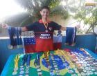 Filho de obidense, está defendendo a seleção brasileira de natação em Guayaquil no Equador.