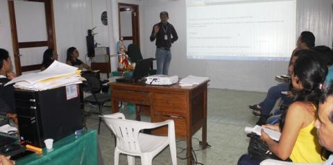 Funcionários da Colônia de Pescadores (as) Z-19 de Óbidos, participaram de curso de capacitação em sistema das entidades dos pescadores.
