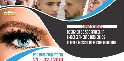 Inscrições abertas para quem deseja aprender designer de sobrancelhas, embelezamento dos cílios e corte masculino com máquinas.