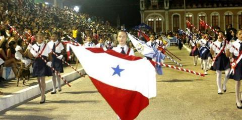 4ª dia de apresentações alusivas a semana da pátria em Óbidos no oeste do Pará.