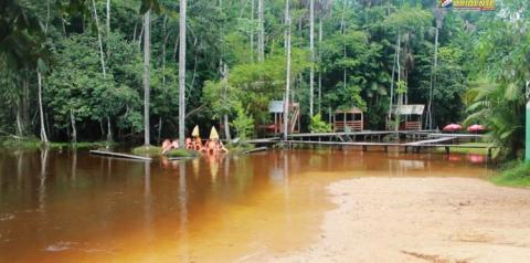 Balneário Curuçambá. Chuva causa assoreamento deste ponto turístico que é o orgulho do povo Obidense.