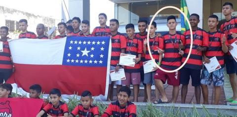Filho de Obidense está no Rio de Janeiro disputando a copa Fla Brasil, defendendo a escolinha do Flamengo Manaus