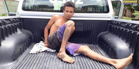 Em Óbidos homem é preso por tentativa de homicídio contra o próprio pai.