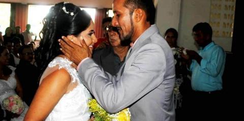 Casamento comunitário é realizado na igreja do Sagrado Coração, em Óbidos.