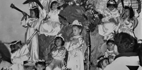 Coroação de Nossa Senhora em Óbidos na década de 1950