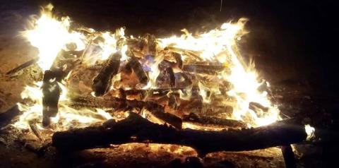 Resgate da tradição. Obidenses acenderam fogueira em comemoração ao dia de São João