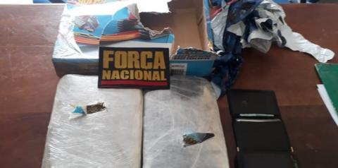 Polícia Federal e Força Nacional realizam apreensão de drogas no porto de Óbidos
