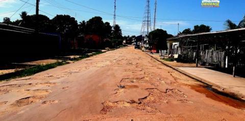 Em Óbidos, ruas sem manutenção, voltam ao estado de buracos I Portal Obidense