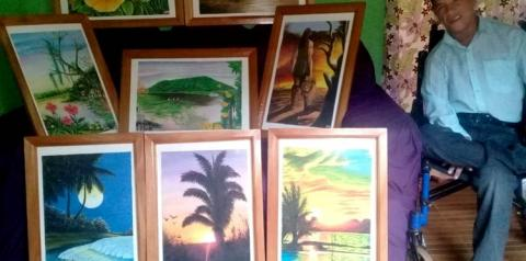 Pintor obidense é exemplo de inspiração para outros artistas I Portal Obidense