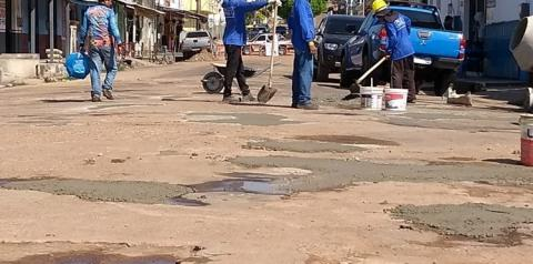 Rua Siqueira Campos em recuperação   Portal Obidense
