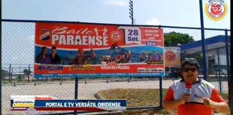 Saiba e conheça a estrutura do local do Baile Paraense dia 28 de setembro   Portal Obidense