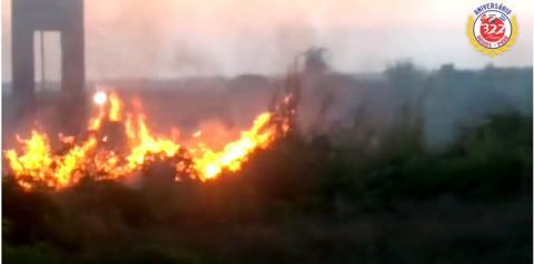 Princípio de incêndio na área da expofao, não passou do suto | Portal Obidense
