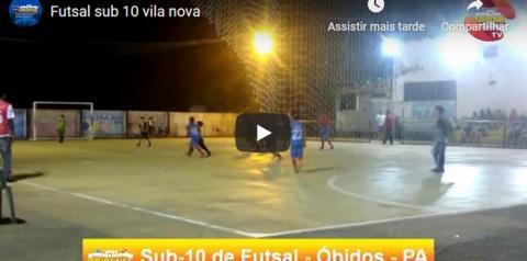 Futsal para meninos de até 10 em Óbidos no Pará