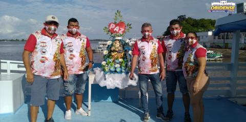 Ribeirinho de algumas comunidades em Óbidos recebem visita de Sant´Ana em Live do Regatão | Portal Obidense