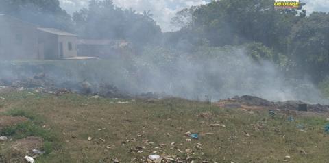 Moradores do Bairro São Francisco sofrem com grande quantidade de fumaça | Portal Obidense