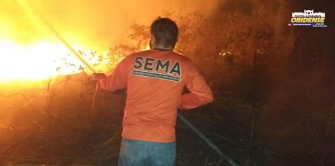 Grande queimada na área do lixão no município de Óbidos | Portal Obidense